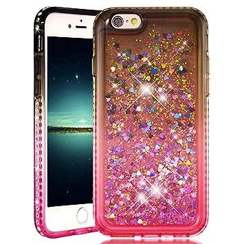 quality design 79dd7 b8acc Amazon.com: iPhone 6S Case for Girls, iPhone 6 Bumper Glitter ...
