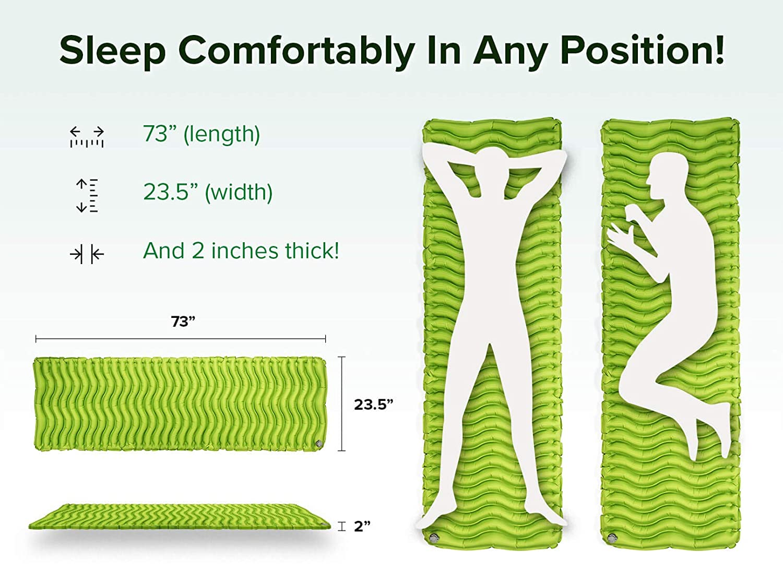 Amazon.com: Colchoneta para dormir de acampada, compacta y ...