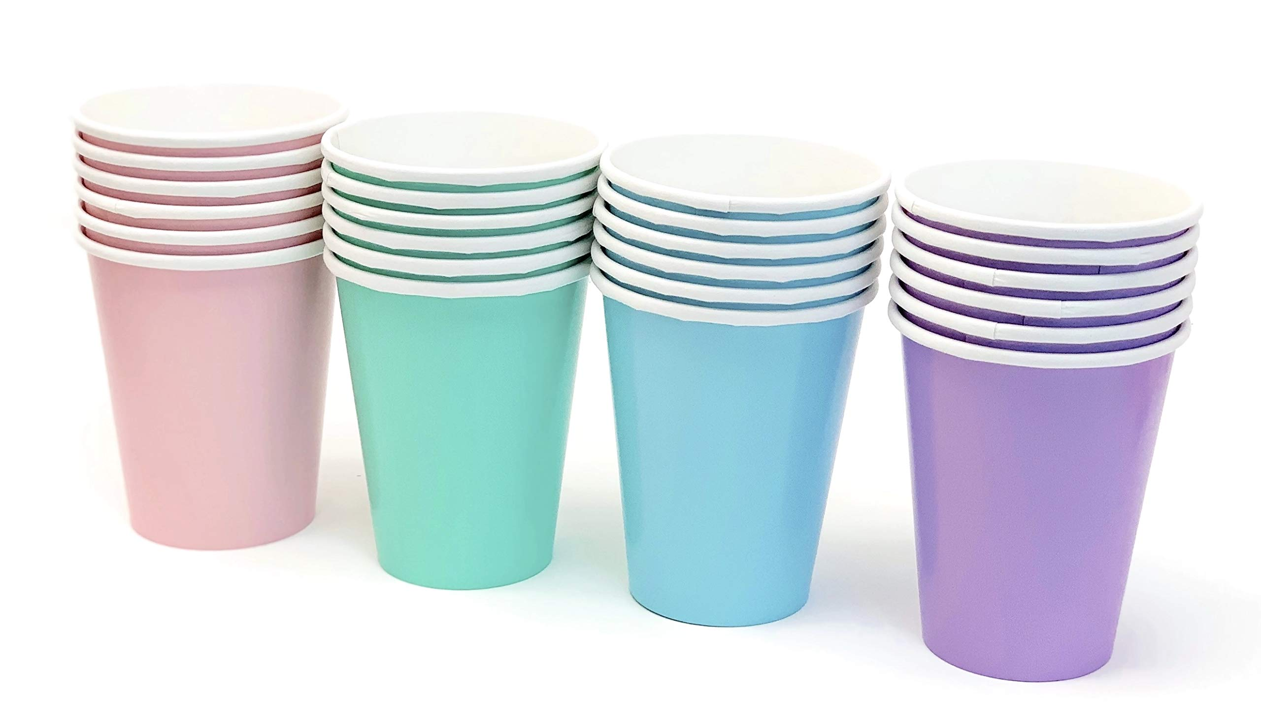 Pastel Rainbow Party Paper Cups 9 Ounce (24 Pack) by Stesha Party