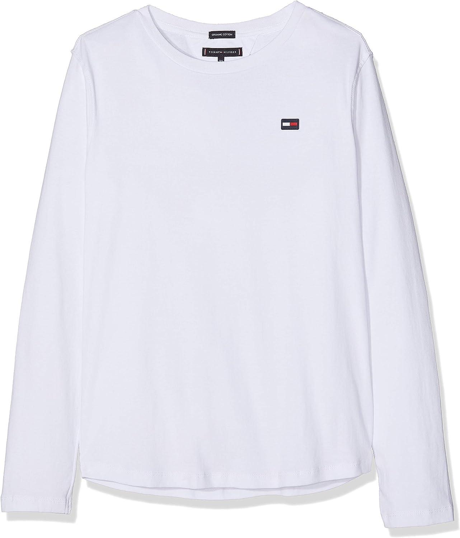 Tommy Hilfiger Essential Rib Knit L//S T-Shirt /À Manches Longues Gar/çon
