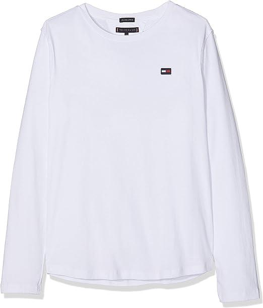 Tommy Hilfiger Essential Rib Knit L/S Camisa Manga Larga para Niños: Amazon.es: Ropa y accesorios