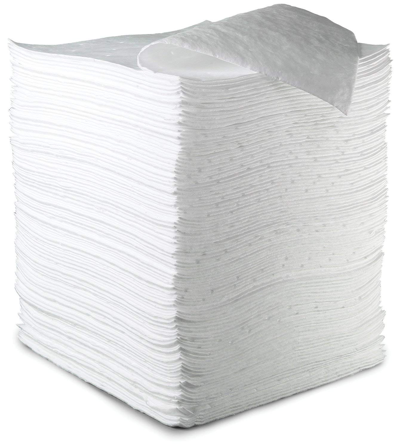 3M Petroleum Sorbent Pad HP-156, 17'' Length x 19'' Width, 37.5 Gallons Absorption Capacity (Case of 100)