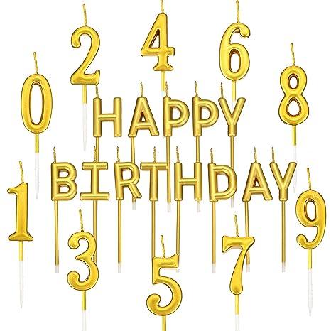 Amazon.com: BBTO - Juego de 23 velas de cumpleaños con ...