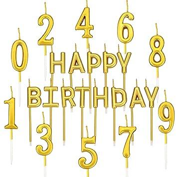 BBTO 23 Piezas de Velas de Cumpleaños Incluye 10 Velas de ...