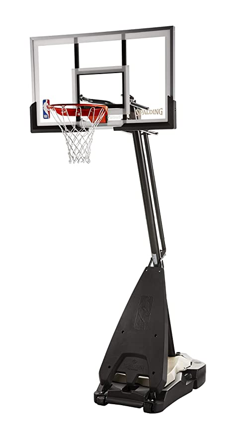 4. Spalding Ultimate Hybrid Acrylic Portable Basketball Hoop