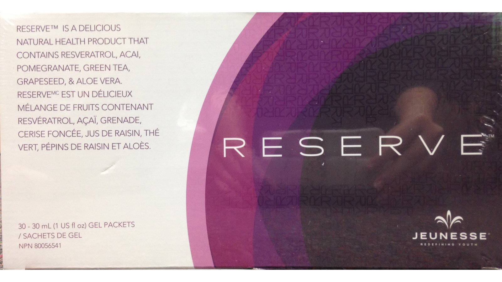 Pack-of-3 Boxes Jeunesse Reserve Antioxidant Botanical Fruit Blend -3x30 (1 Oz) Gel Packets