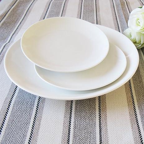 Dauerhaft Dinnerware Porcelain Coupe Round 6 1/4u0026quot; Dessert Plate/Bread Plate/ & Amazon.com | Dauerhaft Dinnerware Porcelain Coupe Round 6 1/4 ...