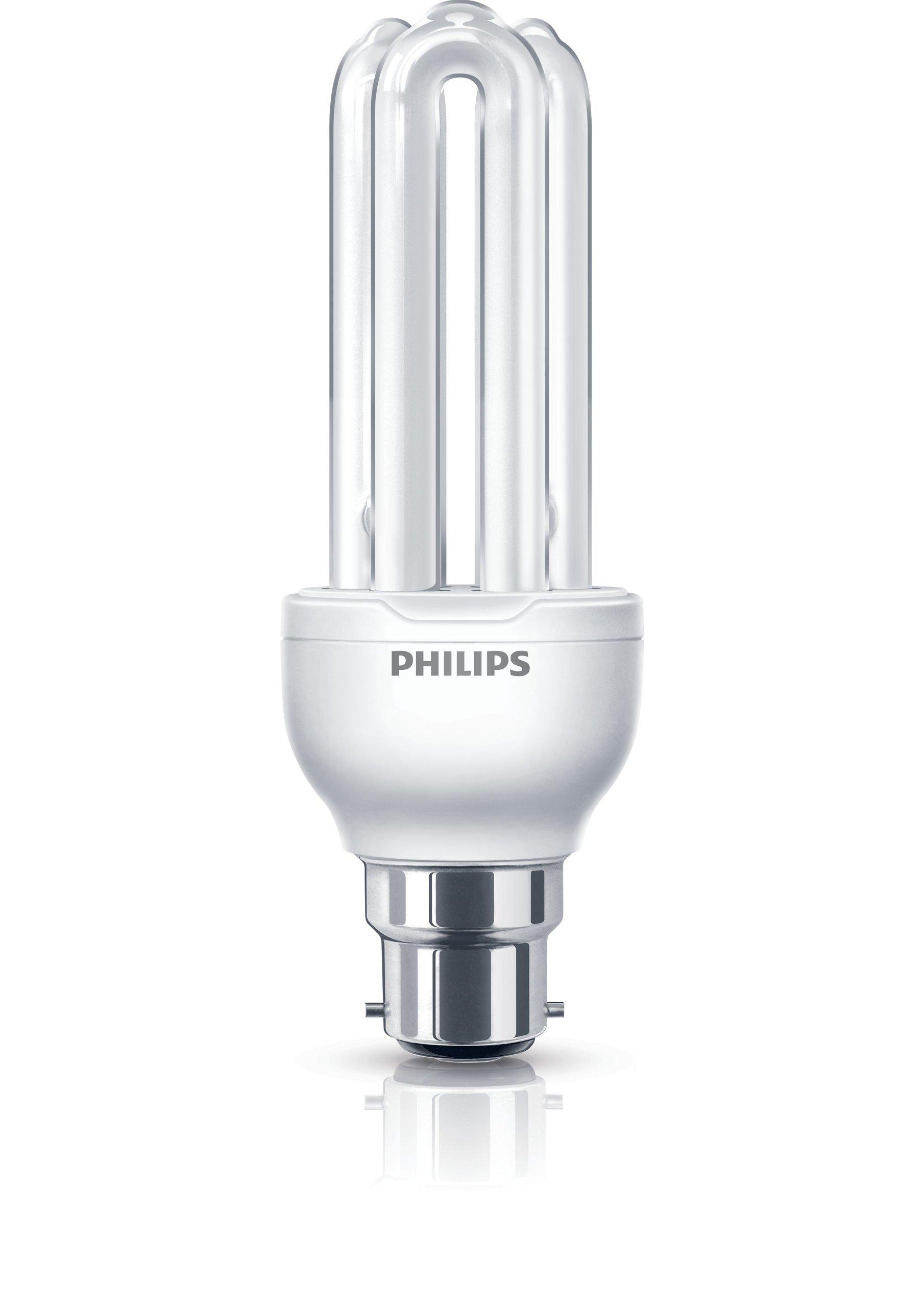 Philips Economy Compact Stick Light Bulb (B22 Bayonet Cap), 18 W - Fluorescent