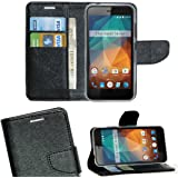Zaoma Diary Type Flip Cover for Xolo Era 2X - Black
