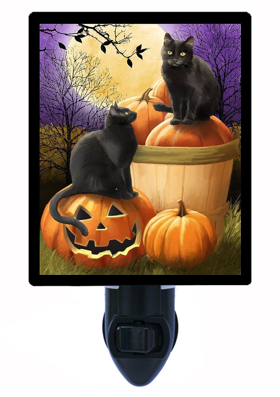 Halloween Night Light – Midnight Rendezvous – Cats and Pumpkins LED Night Light B00CTZXEIO
