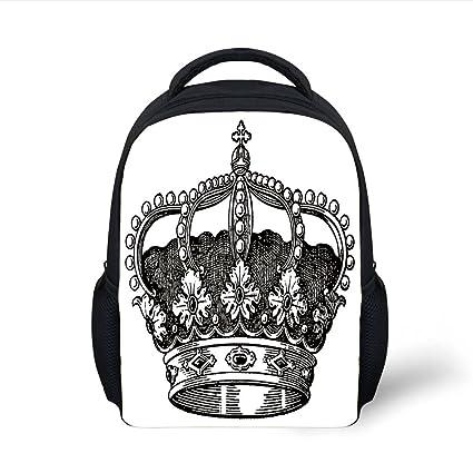 Amazon Iprint Kids School Backpack Queenantique Royal Crown