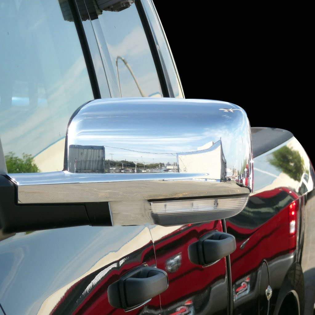 Chrome Mirror Cover Fits 2009-2016 Doge Ram Tow Mirror With Turn Signal Only