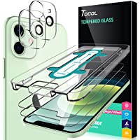 TOCOL 2-pak ochraniacz ekranu z 2 opakowaniem ochraniacz obiektywu do aparatu kompatybilny z iPhone 12 5G 6,1 cala 9H…