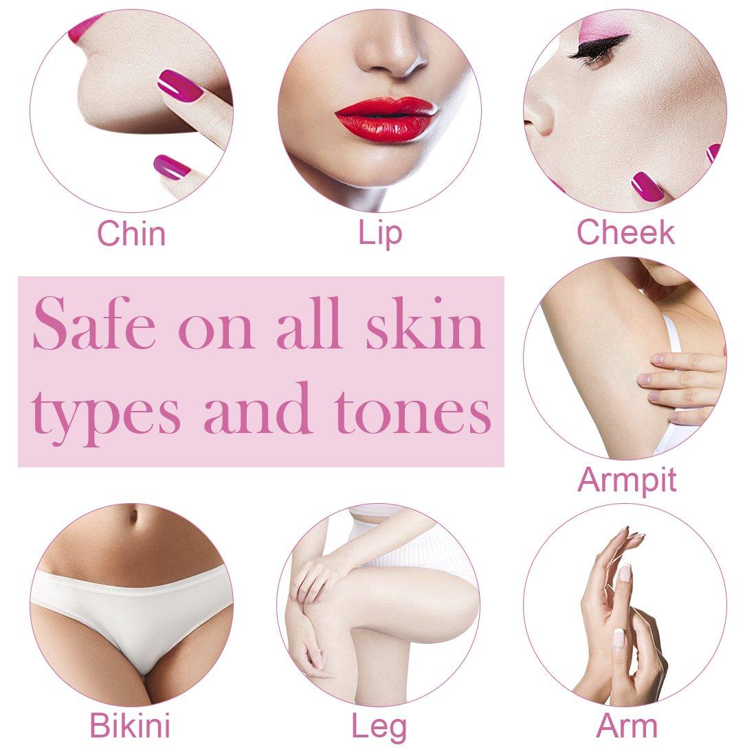 Amazon.com: Remoción facial de pelo para mujeres, sin dolor ...