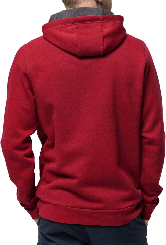 Jack Wolfskin Herren Brand Hoodie dark lacquer red