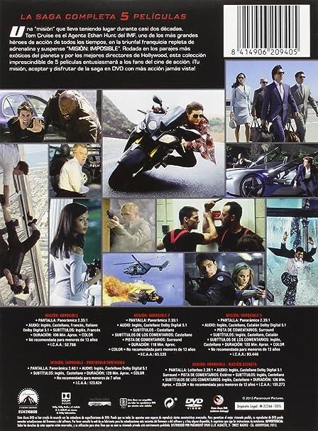Pack: Misión Imposible 1-5 [DVD]: Amazon.es: Tom Cruise, Rebecca ...