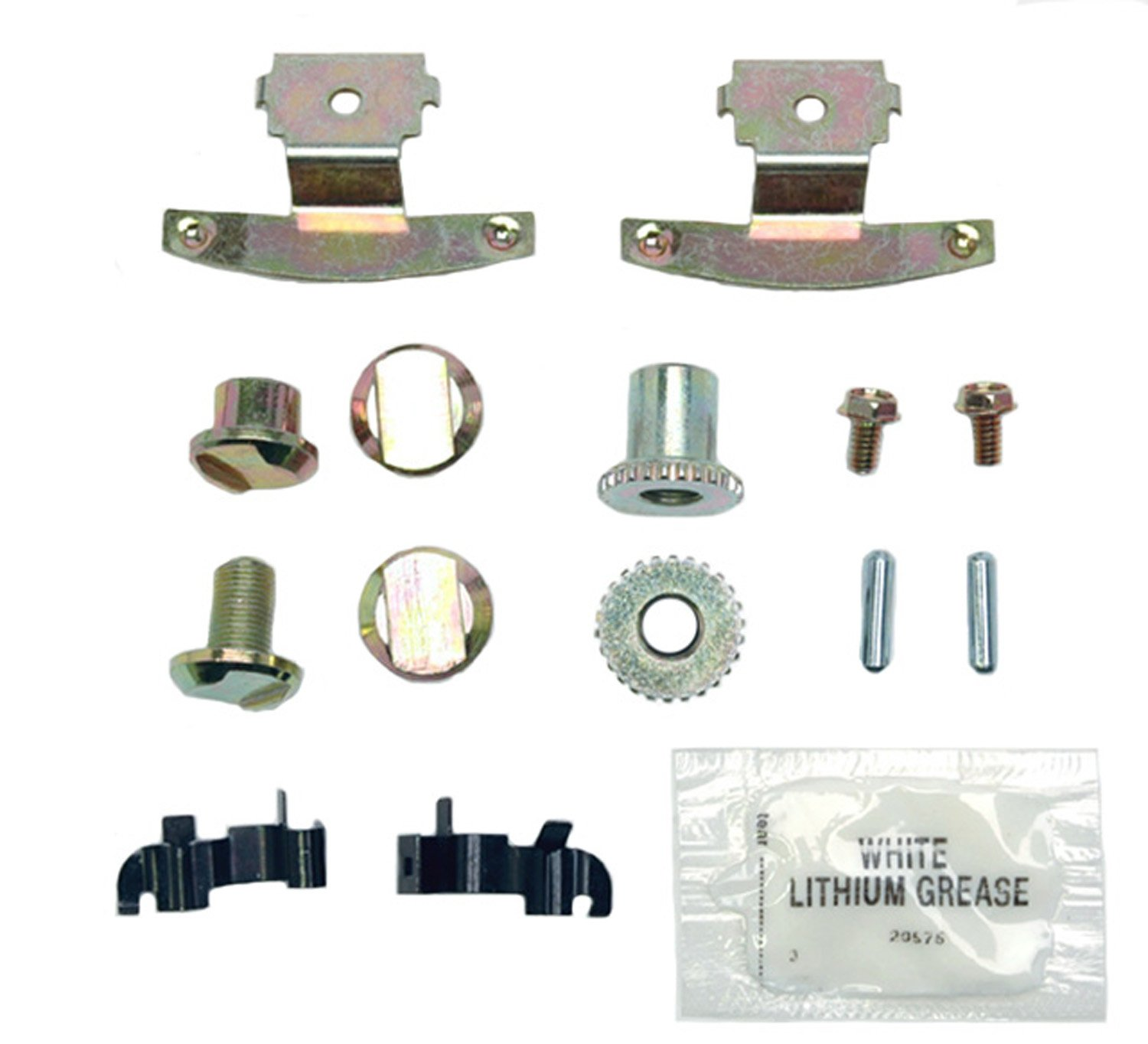 ACDelco 18K1629 Professional Rear Parking Brake Hardware Kit with Clips, Adjusters, Pins, Bolts, and Grease