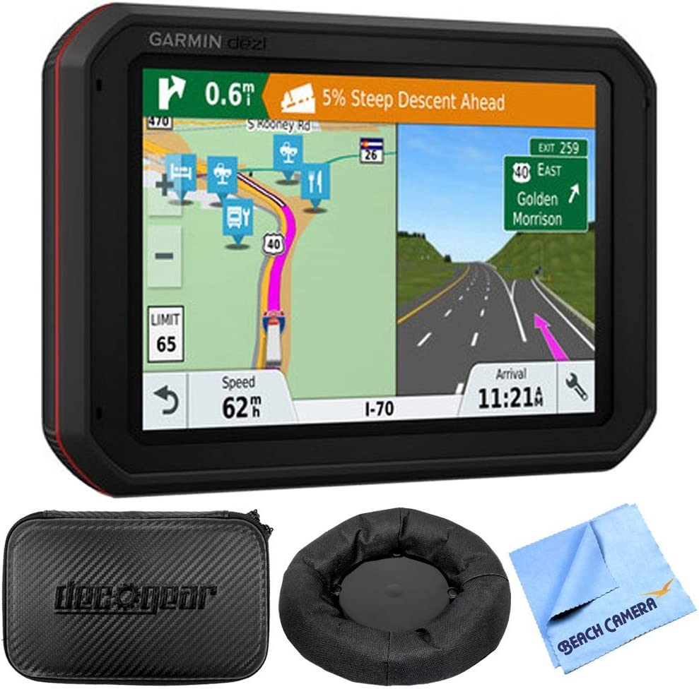 Garmin dezlCam 785 LMT-S GPS Truck Navigator with Built-in Dash Cam (010-01856-00) with Accessories Bundle Includes, Universal GPS Navigation Dash-Mount, Hard EVA Case, and More (Renewed)