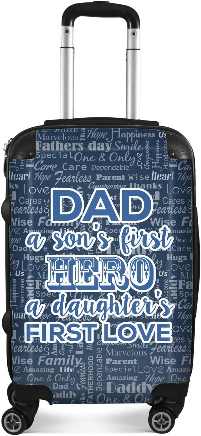 My Father My Hero Suitcase Personalized 20 Carry On