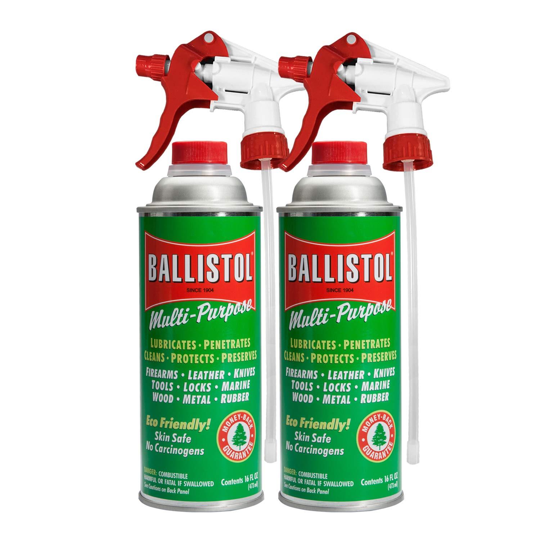 Ballistol Multi-Purpose Lube Cleaner Protectant 16 Ounce w/Sprayer (2 Pack) by Ballistol