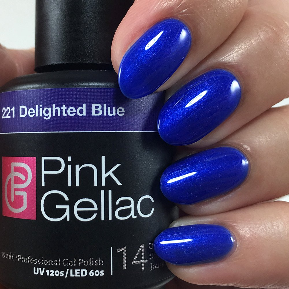 Welp Pink Gellac UV Nail Polish 221 Delighted blue. Professional Gel RD-39