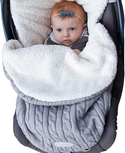 Luxury Swaddle Wrap Blanket Newborn Baby Infant Pram Polar Fleece Sleeping Bag