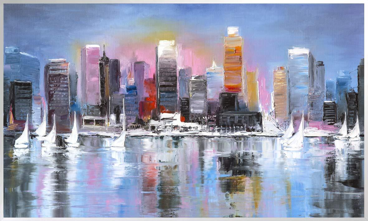 200+ Bilder 600 Watt Bildheizung in HD Qualit/ät mit T/ÜV//GS K/önighaus Fern Infrarotheizung 153. New York Skyline nachts