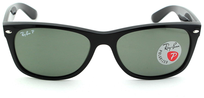 fe39d6b03c Amazon.com  Ray-Ban RB2132 New Wayfarer Polarized Unisex Sunglasses (Black  Frame Crystal Green Polarized 901 58