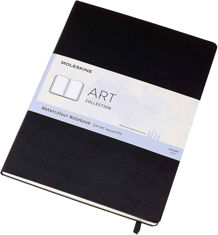 Amazon.com: Moleskine Art - Cuaderno de acuarela A4, negro ...