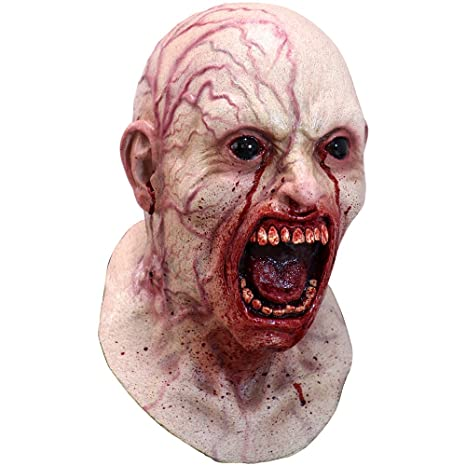 a9b8e017e Máscara de Zombie Infectado  Amazon.es  Juguetes y juegos