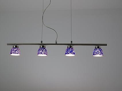 D blu lampadario moderno acciaio nikel lampada sospensione