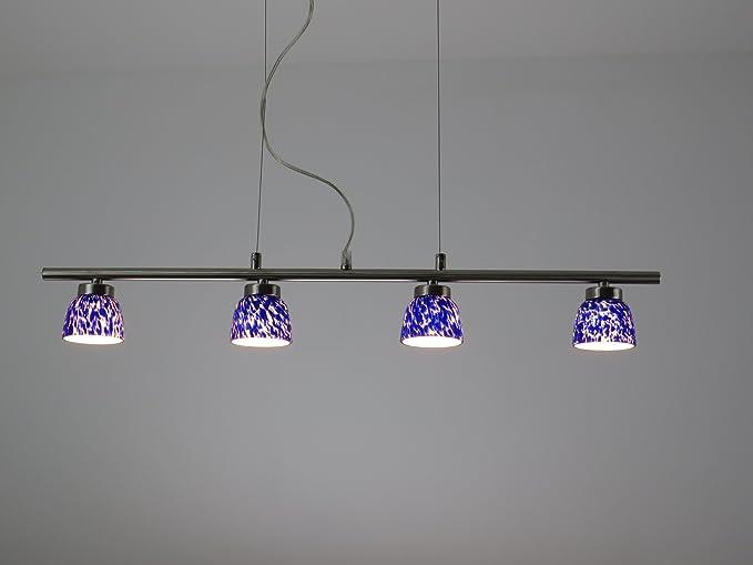 Illuminazione Bagno Sospensione : D blu lampadario moderno acciaio nikel lampada sospensione