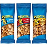PLANTERS Variety Packs (Salted Cashews, Salted Peanuts & Honey Roasted Peanuts), 36 Packs | Individual Bags of On-the-Go Nut