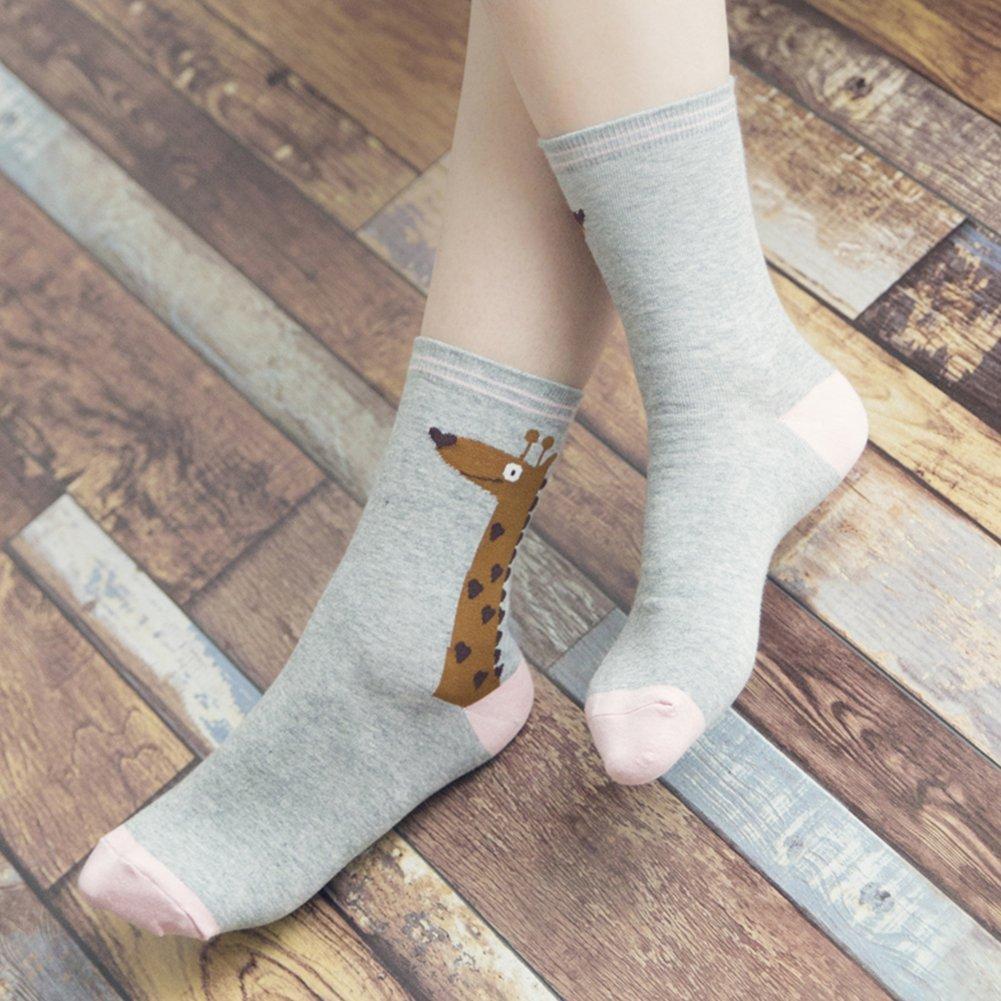 Calcetines de Algodón de Mujers - Bakicey calcetines térmicos Adulto Unisex Calcetines (Jirafa Casual): Amazon.es: Deportes y aire libre