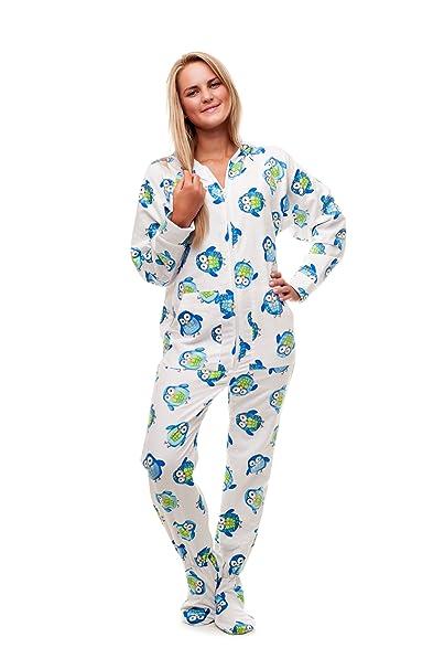 9dc59fa91 Kajamaz Pijama Entero con pies para Adultos Búho Nocturno Pijama Entero con pies  para Adultos de