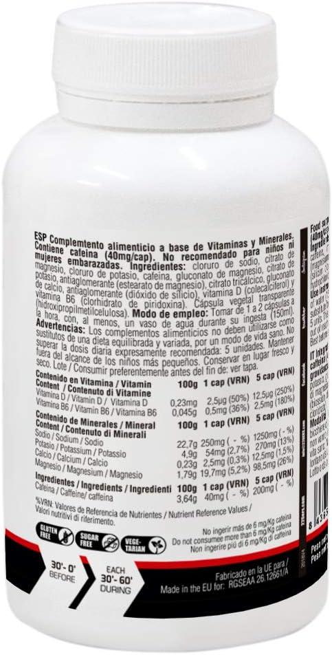 226ERS Sub9 Pro Salts Electrolytes, Sales Minerales con Vitaminas y Cafeína - 100 cápsulas: Amazon.es: Salud y cuidado personal