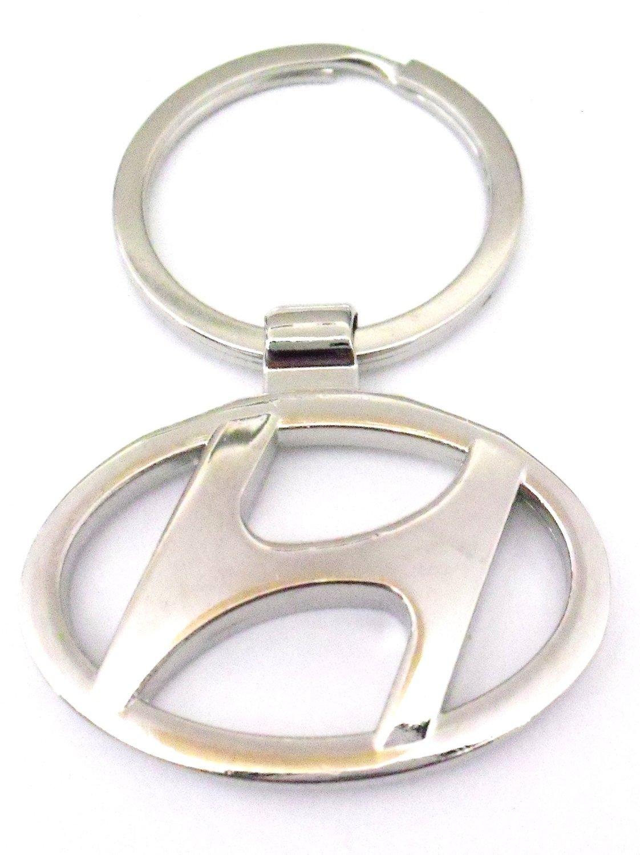 Hyundai Car metal cromado (Logo Llavero Llavero Llavero ...