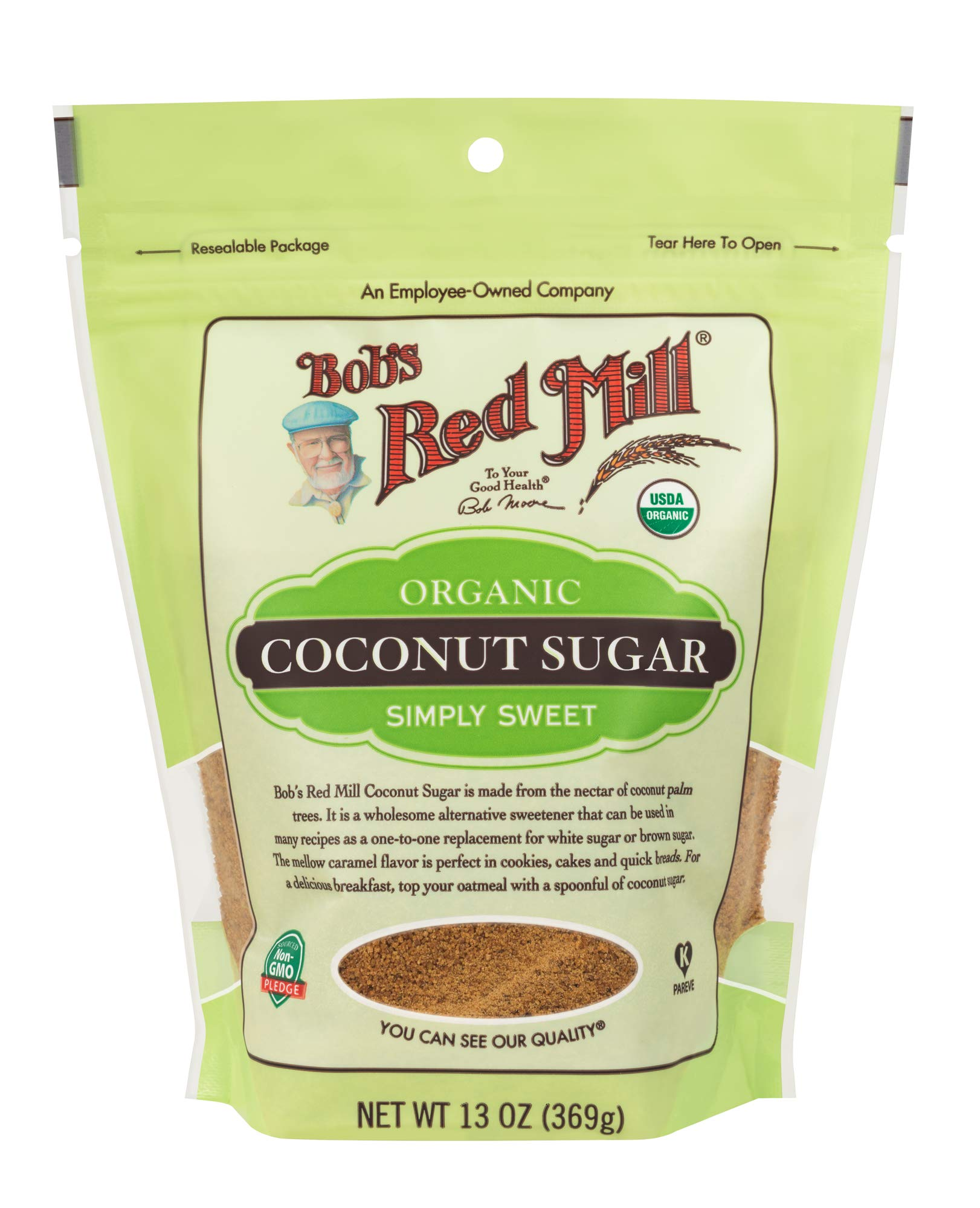 Bob's Red Mill Resealable Organic Coconut Sugar, 13 Oz (6 Pack) by Bob's Red Mill (Image #3)