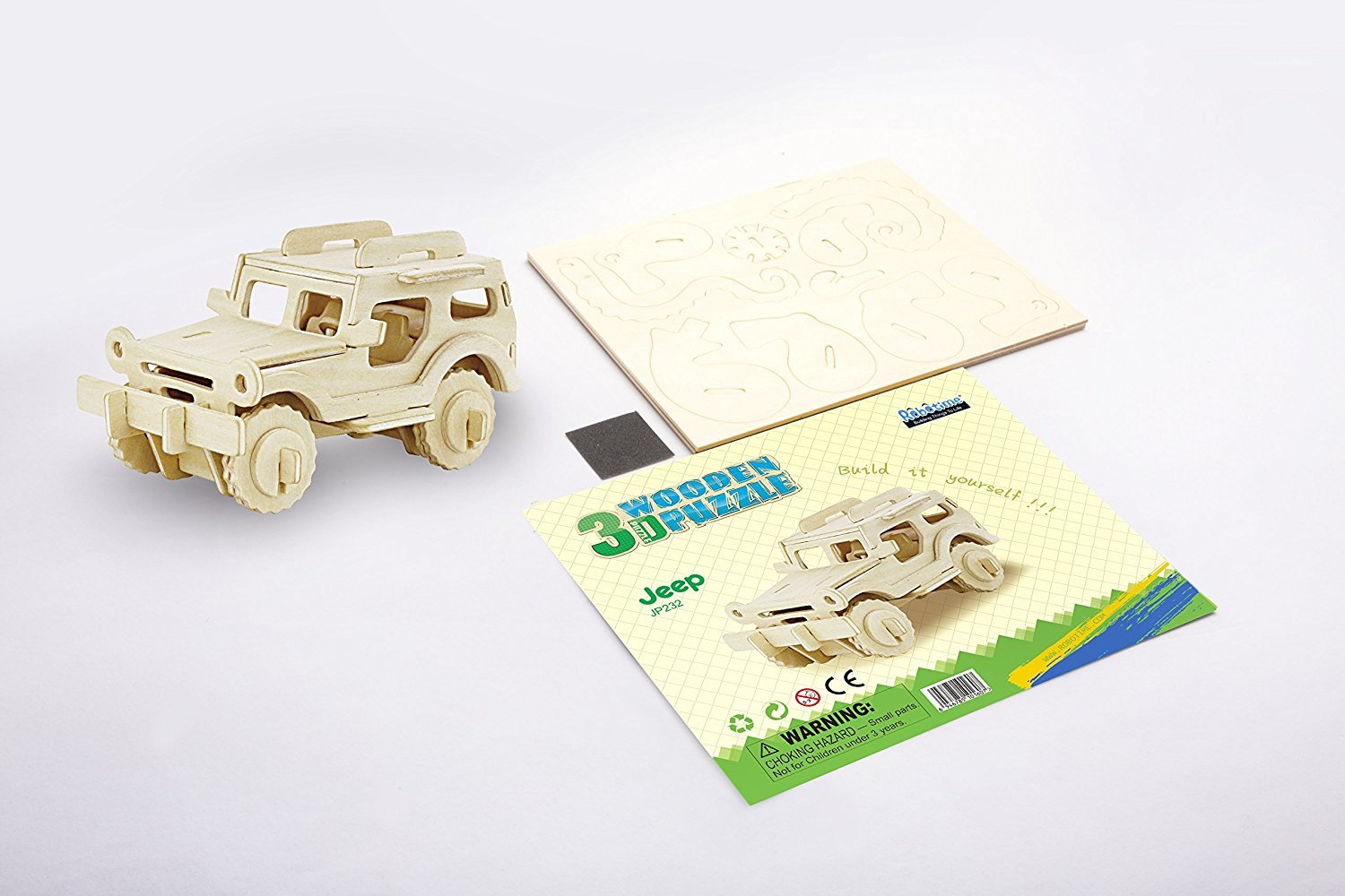 Ponte Collection 3d Wooden Model Toy Kit World Puzzle Build Car Kit