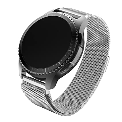 Cideros Frontier Bands for Women Men for Samsung Gear S3 Smartwatch Band Magnetic Stainless Steel Replacement Bracelet Strap Accessories for Samsung ...