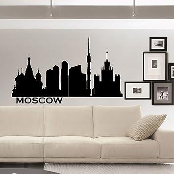 City Silhouette Cityscape Vinyl Wall Sticker Decal Landscape Skyline Home Decor