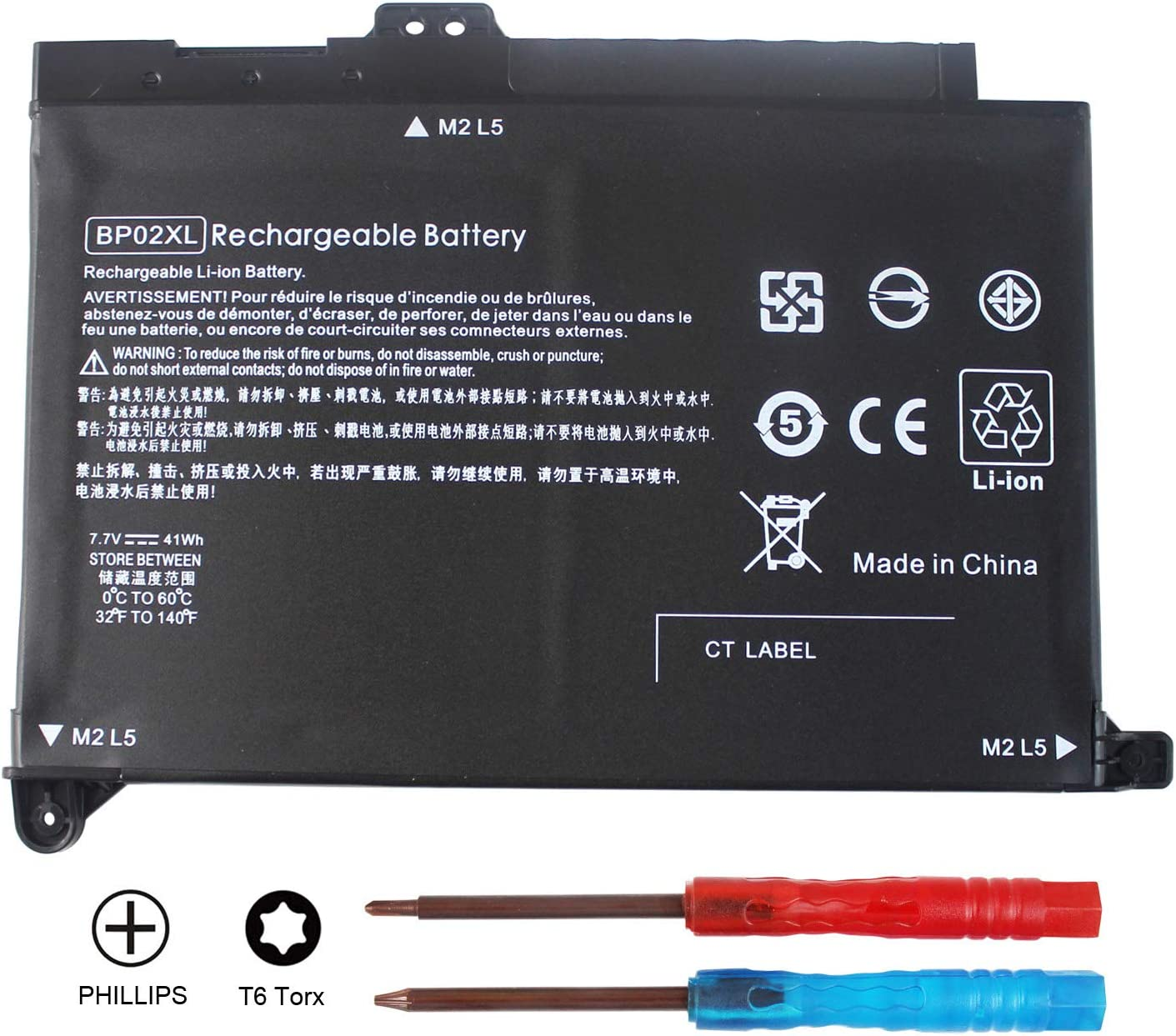Shareway BP02XL Replacement Laptop Battery Compatible for HP Pavilion 15-AU000 15-AW000 Series 15-AU136TX 849569-421 BP02041XL HSTNN-LB7H 2ICP7/65/80