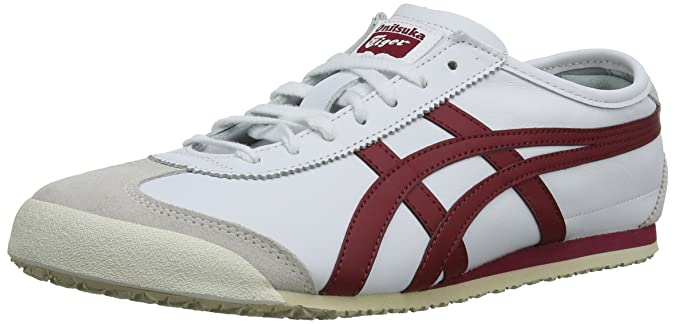 Amazon.com | ASICS Mexico 66, Unisex Adults Low-Top Sneakers, White (White/Burgundy 0125), 7.5 UK (42 EU) | Fashion Sneakers
