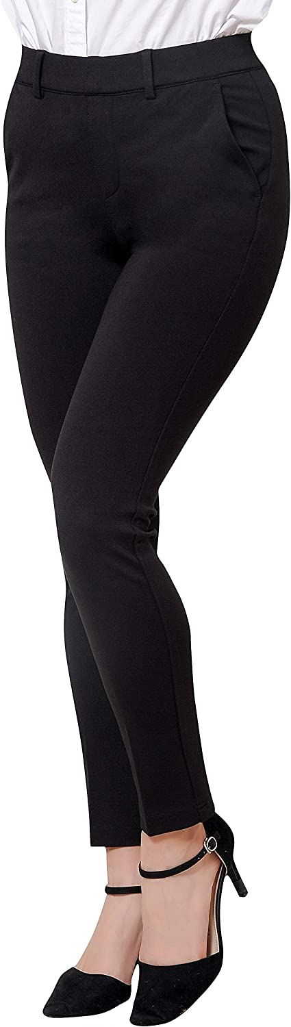 Marycrafts Women's Pull On Stretch Yoga Dress Business Work Pants