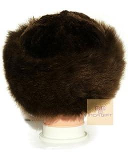 9dbce06c4f9fc Alpakaandmore Womens Black Baby Alpaca Fur Mongolian Hat Satin Lined ...