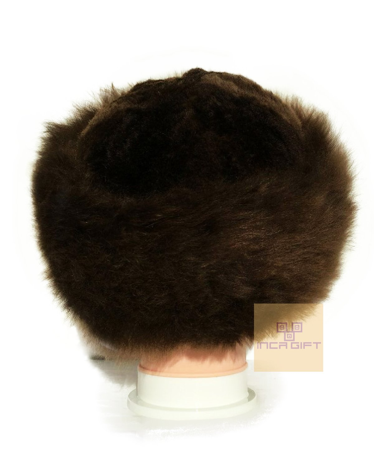 Authentic Premium Baby Alpaca Fur Hat - Russian Cossack Style Hat Winter -Wrap Hat (Brown) by IncaGift (Image #1)