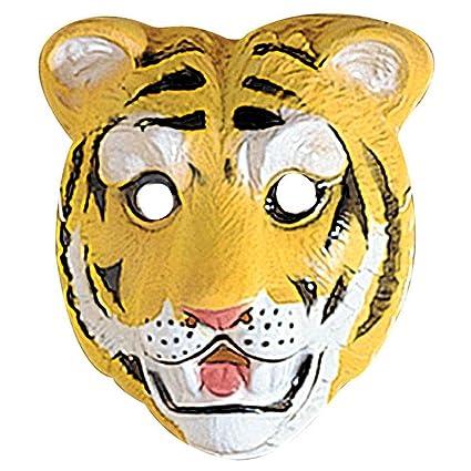 Careta de tigre salvaje antifaz accesorios carnaval gato zoológico salvaje