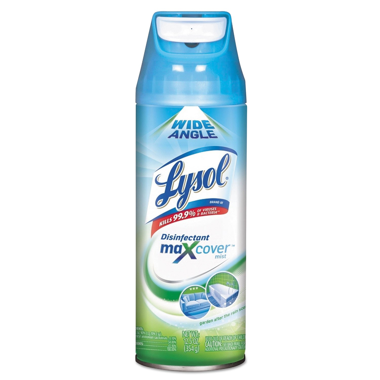Lysol Max Cover Disinfectant Mist - Garden After Rain 12.5 oz. (Pack of 6)