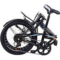20 Inch Bike Adult Folding Mountain Bike, 7 Speed Exercise Bike, Around The Block Womens Beach Cruiser Road Bicycle…