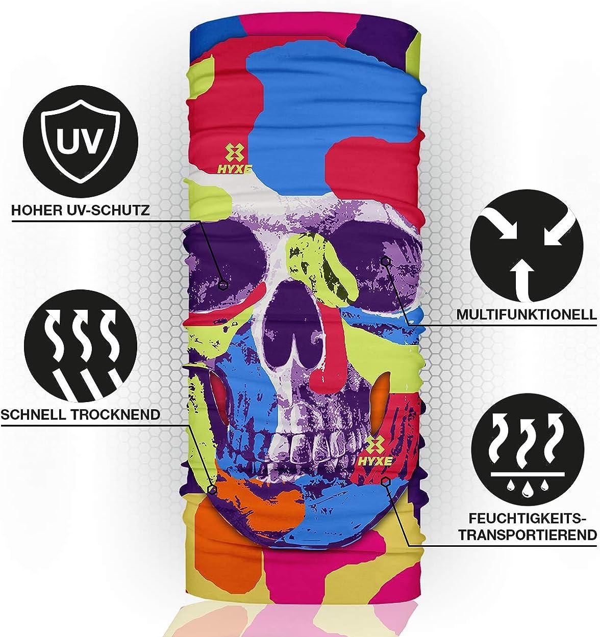 verschiedenste Designs 10 Tragevarianten nachhaltiges Schlauchtuch Outdoortuch Kopftuch HYXE 2er Set Original Multifunktionstuch f/ür Damen Stirnband nahtloses Halstuch Schal